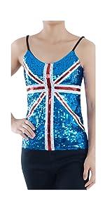 02385c64a1cf1f Anna-Kaci Womens Long Sleeve Front Zip Track Stripe Sequin Bomber Jacket ·  Anna-Kaci Womens Patriotic USA Flag American Sequin V Neck Cami Tank Top ...