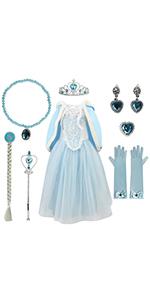 Frozen Princess Cosplay Costume Luxurious