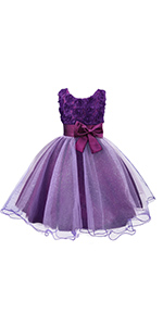 Floral Princess Dress with Bowknot