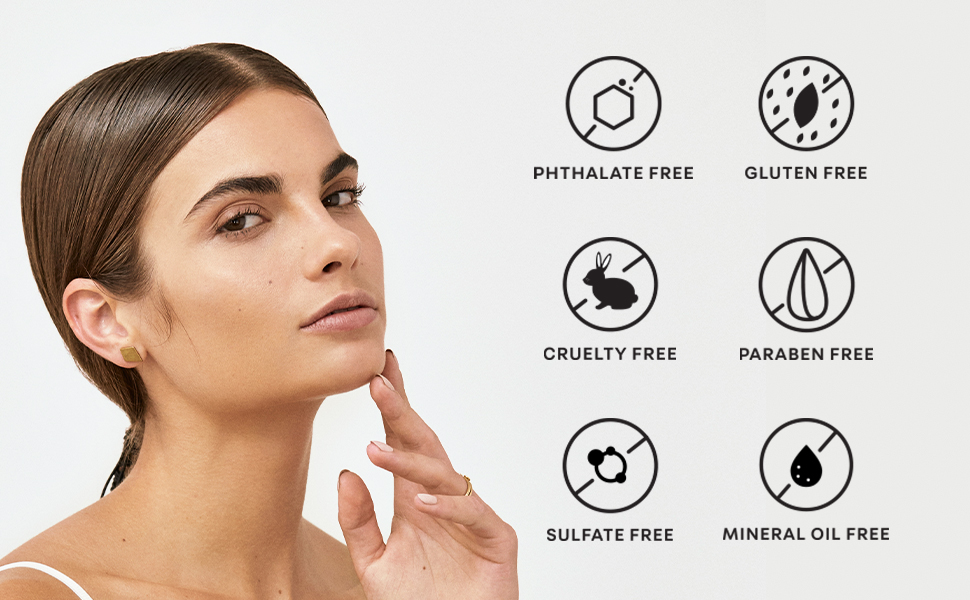 Phthalate-free, gluten-free, cruelty-free, paraben-free, sulfate-free, mineral oil-free