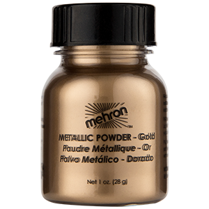 Mehron Makeup Metallic Powder Gold