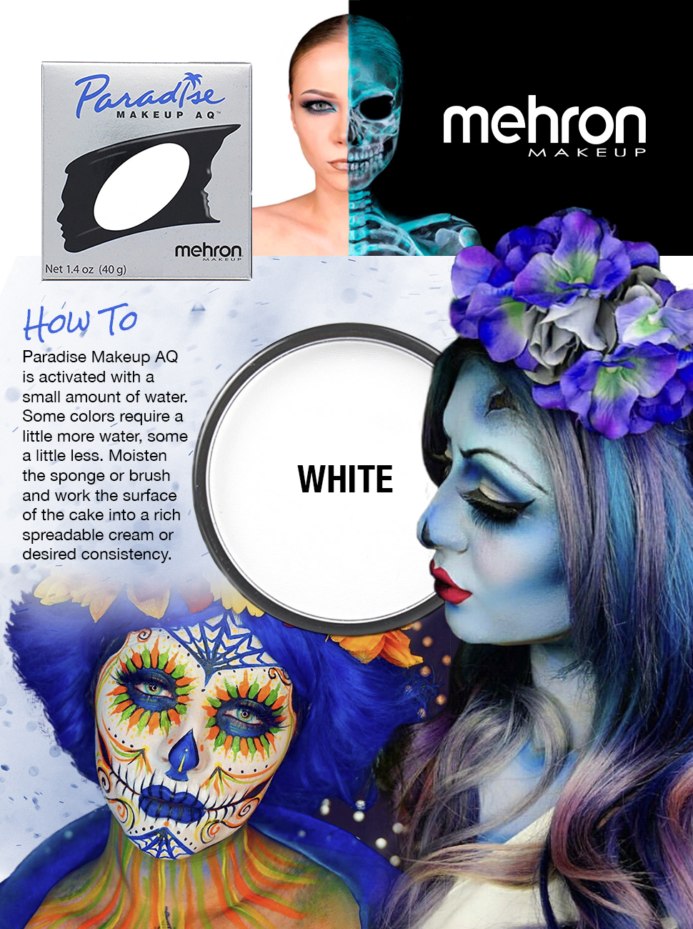 Amazon mehron makeup paradise aq face body paint white product description magicingreecefo Gallery