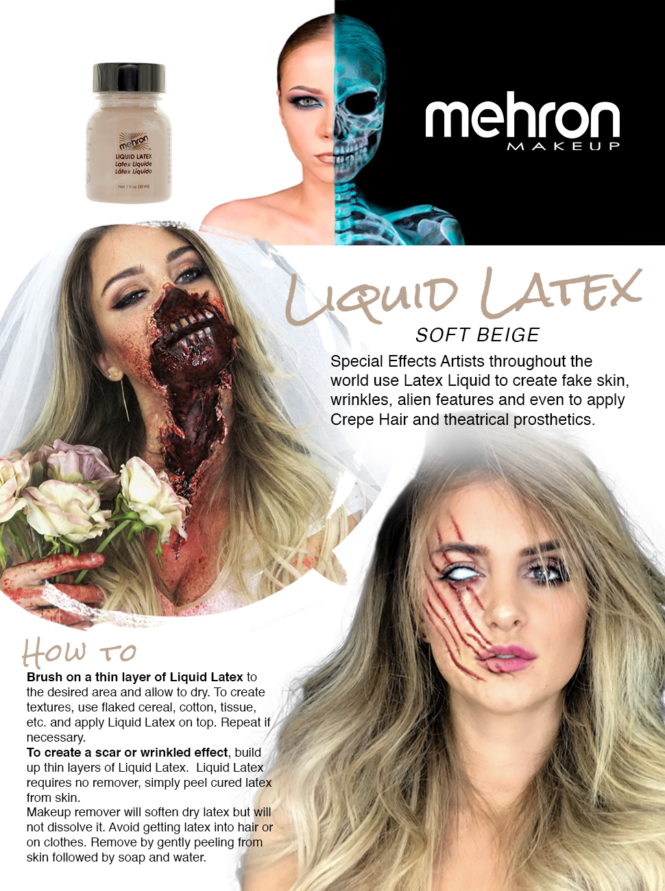 Amazon.com: Mehron Makeup Liquid Latex, Light Flesh (1 oz): Beauty