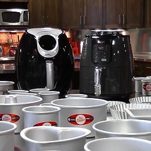 air fryer, accessories, round cake pans