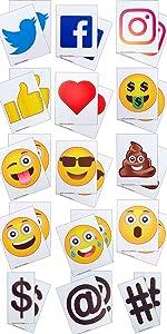 Sidewalk SmartSign Magic Master Signicade A-Frame Emoji Social Message Facebook Twitter Instagram