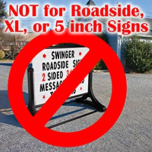 Roadside Swinger Sign 5 Inch Letters Numbers Characters
