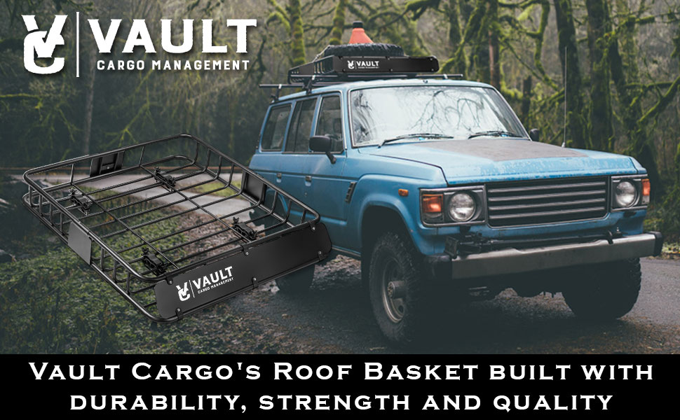 Awesome VAULT CARGO MANAGEMENTS   Universal Roof Basket Offers Superior Cargo Space  And Carrying Ability. The Roof Basket Secures Perfectly To Your Vehicles ...