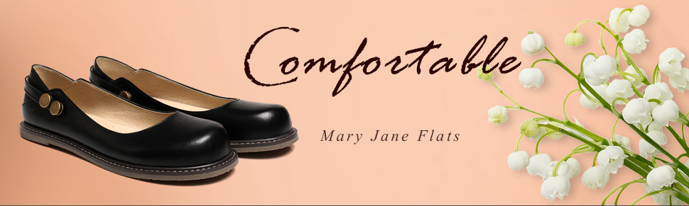 860079c4a0d7 WOMENS. Comfortable Mary Jane Flat Shoes