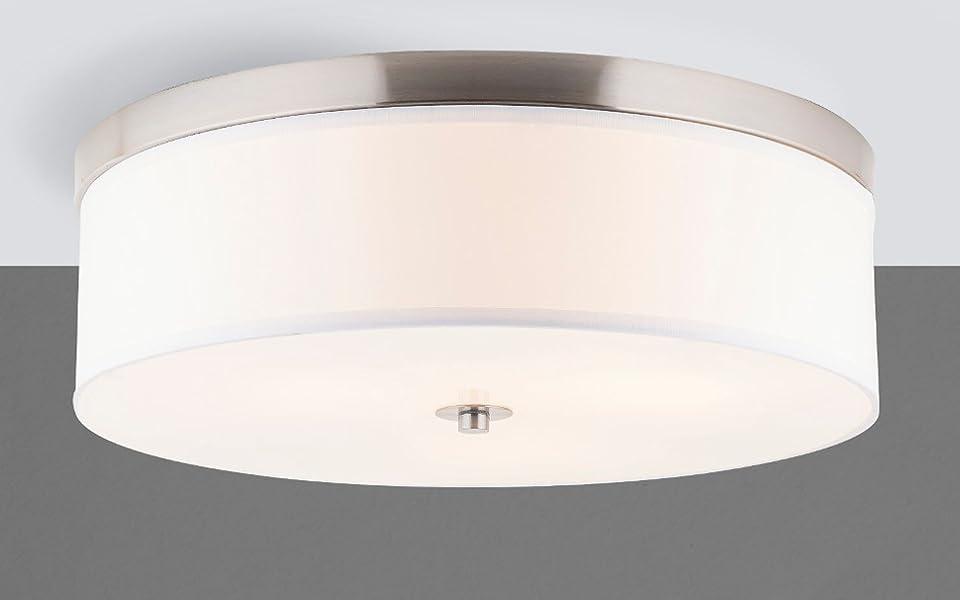 Occhio 20.5-Inch Three-Light Close to Ceiling Drum Light Fixture ...