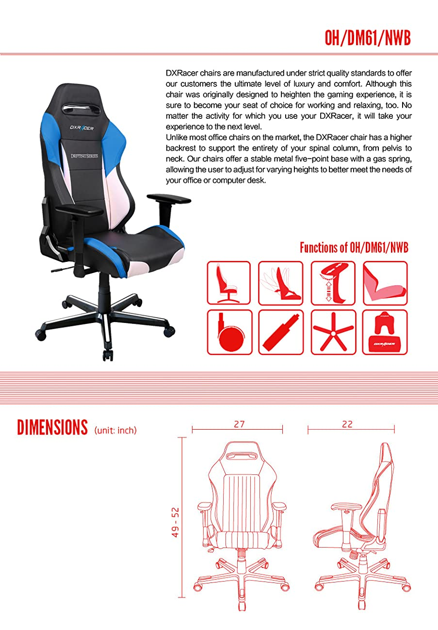 Amazon.com: DXRacer Drifting Series Doh/dm61 silla de ...
