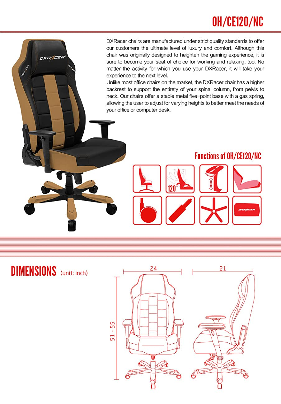 Amazon Com Dxracer Classic Series Doh Ce120 Nc Big And