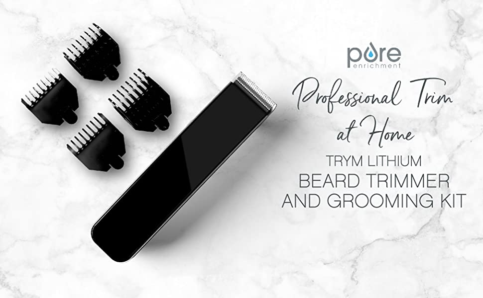 Pure Enrichment TRYM Lithium Beard Trimmer and Grooming Kit