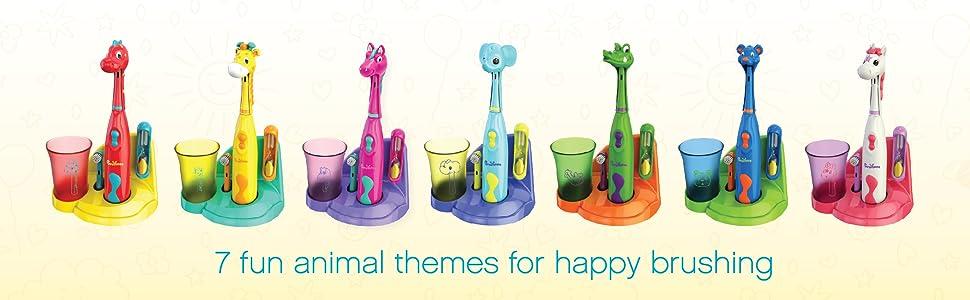 Brusheez: 7 Animal-Themed Sets