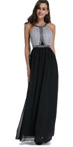 Chiffon Beading Prom Dress B07KB1L2N4