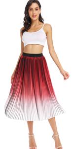 Pleated Chiffon Skirt B07QS1BS1V
