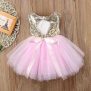 Fenleo Baby Girls Kids Sleeveless Bownot Tutu Princess Dress Outfit Sundress