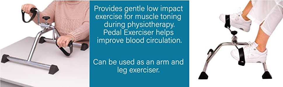 Can be used as an arm and leg exerciser