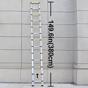 En131 12 5 Telescoping Ladder Aluminum Telescopic
