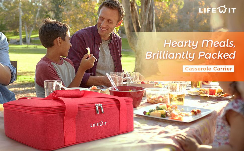 Amazon.com: Lifewit - Taza térmica de lasagna aislante para ...