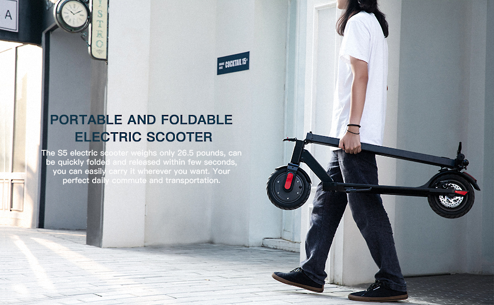 portable and foldable electric scooter