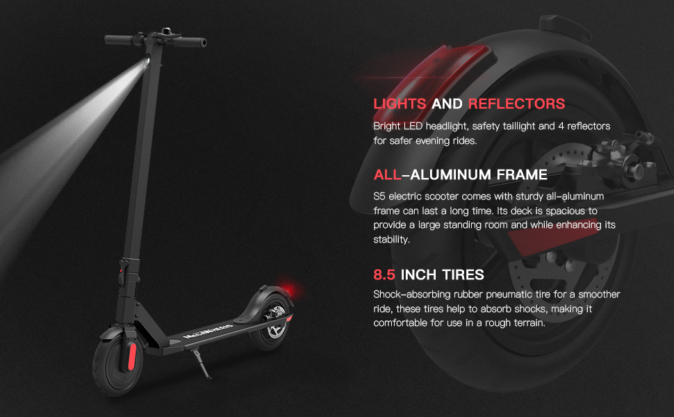8.5 inch tires electric scooter