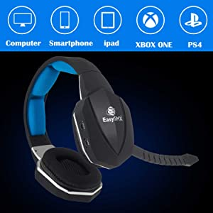 Amazon com: EasySMX Wireless Gaming Headset 2 4G Optical for