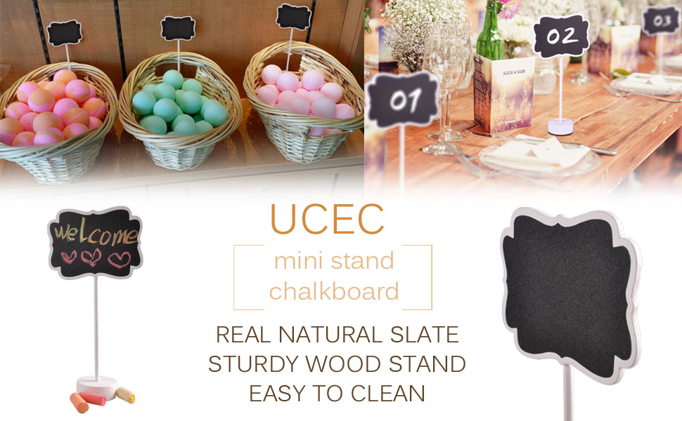 Amazon.com: UCEC 10pcs Mini rectangular pizarrón con base de ...