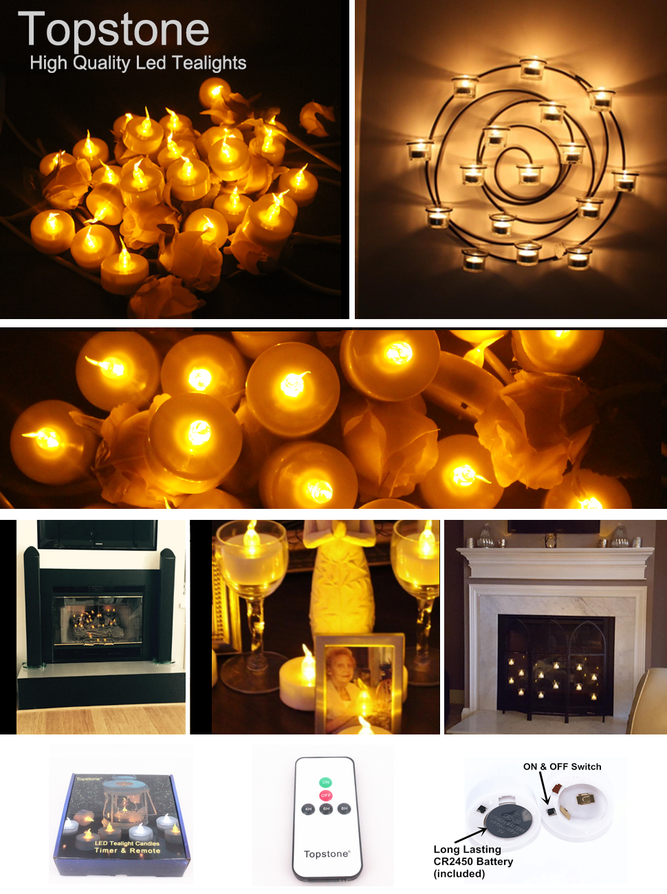 Amazon Com Topstone Led Tealight Candles With Battery