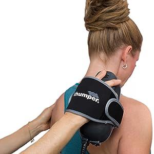 chiropractor, doctor, using, verve, on, patient, model