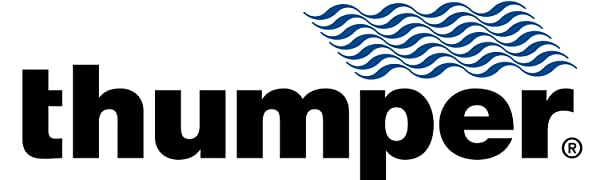 thumper, blue, waves, logo