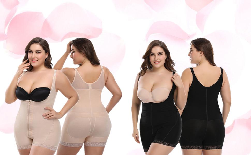 ca9ffae852a35 Nicetage Women Seamless Tummy Control Shapewear Open Bust Bodysuit ...