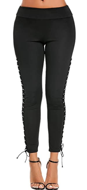 bfff920fc70 sexy cut out legging. Material  90% Polyester + 10% Spandex. Soft and  Stretchable to wear. Fashion ripped hole and lace up design