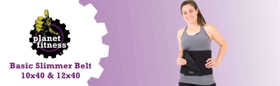 "Planet Fitness Waist Trainer Belt Max Coverage 12/""x40/"" Abdominal Core Shaper"