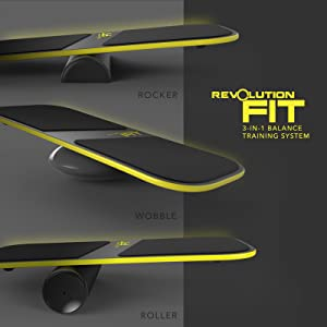 Amazon revolution fit 3 in 1 balance board training system the revolution fit system allows you to quickly adjust difficulty and type of motion on the fly 3 different bases are included all bases strengthen core fandeluxe Images