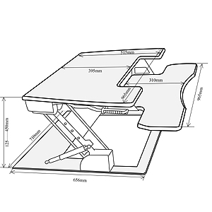 Amazon Com Fancierstudio Riser Desk Standing Desk Extra