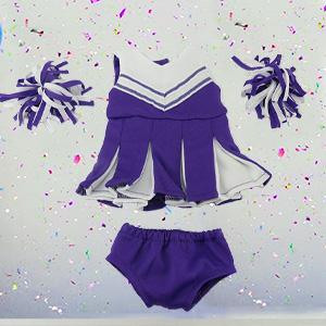 Purple /& White Cheerleader Set fits American Girl Doll
