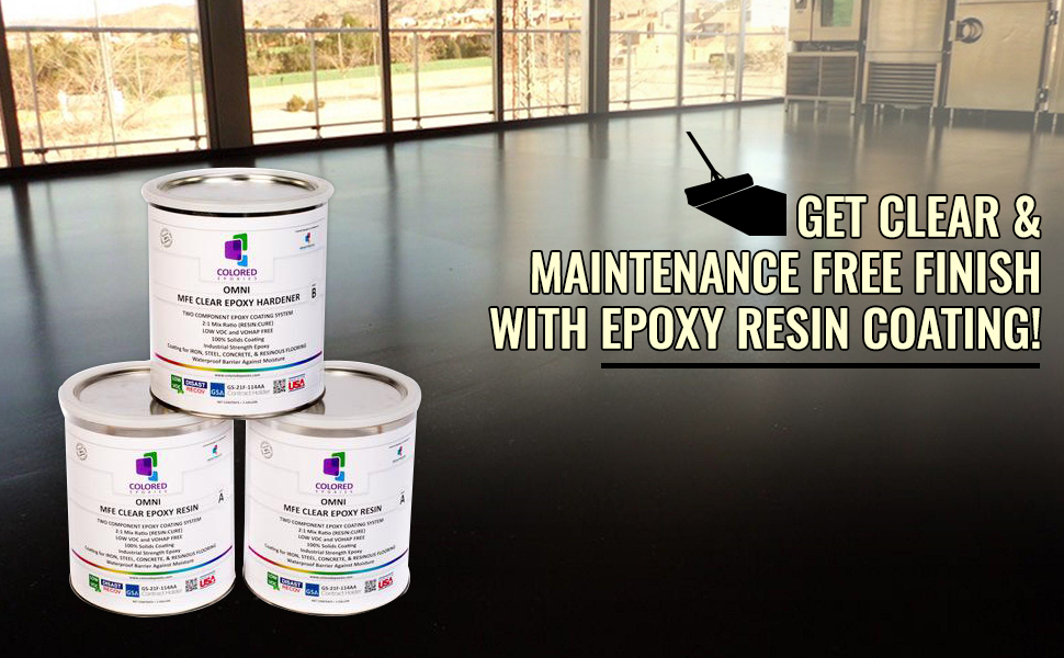 Expoxy resin coating is very easy to install, just 1, 2, 3. Just follow the step by step instruction