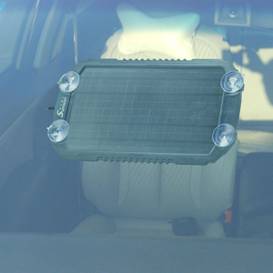 Make sure the solar charger can facing the sunlight directly.