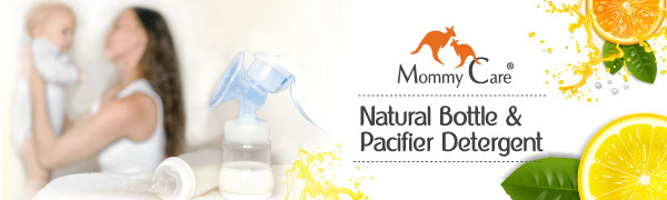 Mommy Care Natural Foaming Dish and Bottle Soap 200 ml / 6.76 oz Natural Baby Bottle Sterilizer -...