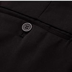Flat Front Trousers Dress Pants for Men