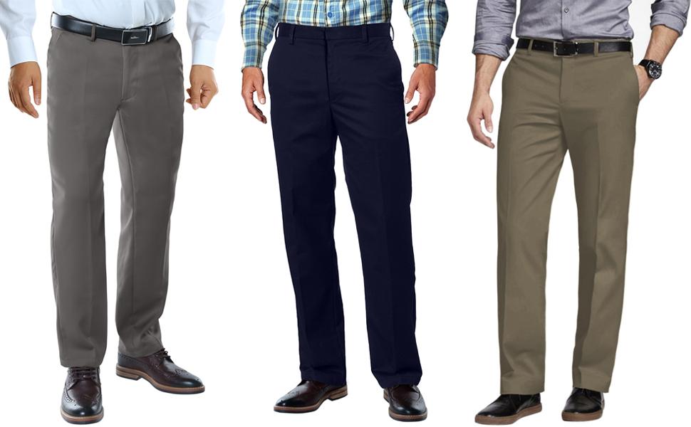 Match Mens Straight Fit No-Iron Dress Pants