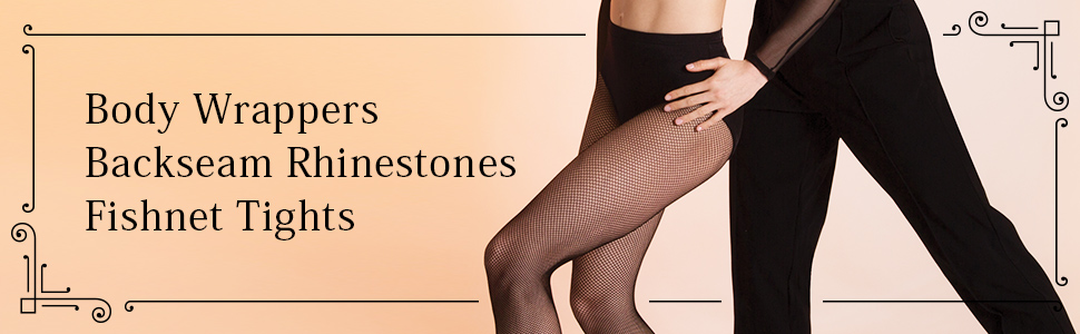 19c4aed1f4bc9 Amazon.com: Body Wrappers A64 Backseam Rhinestones Fishnet Tights ...