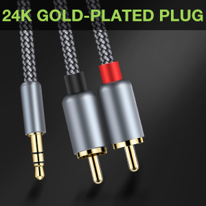 3.5mm to 2 rca cable