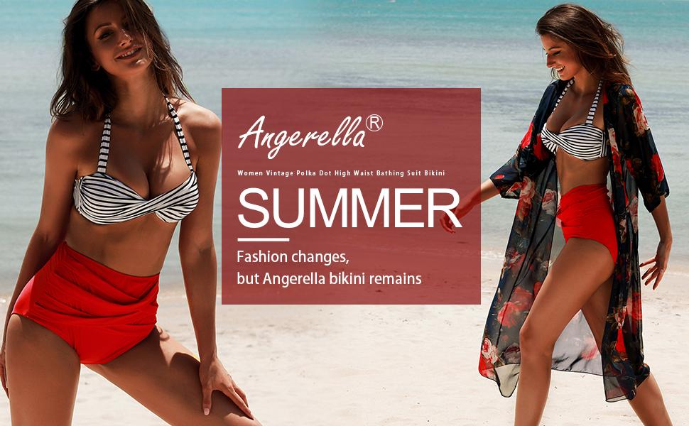 f15ddbcaadc2b Amazon.com: Angerella Womens Swimwear Vintage Polka Dot High Waisted ...