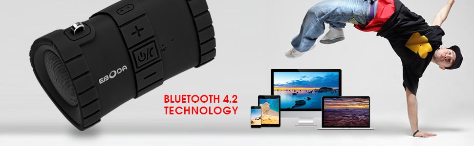 Bluetooth 4.2 speaker, wireless speaker portable