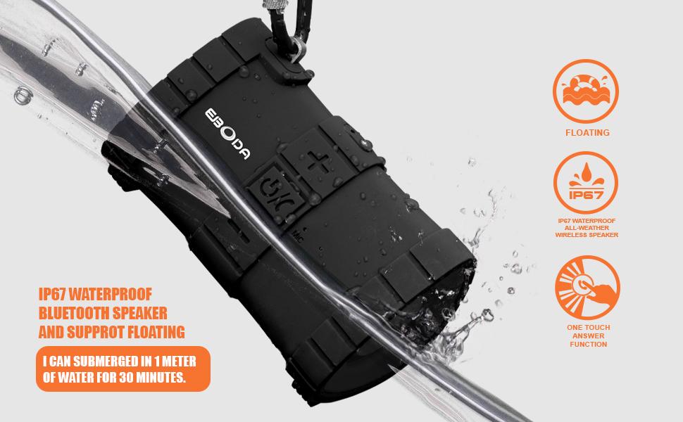 IPX7 waterproof bluetooth speaker