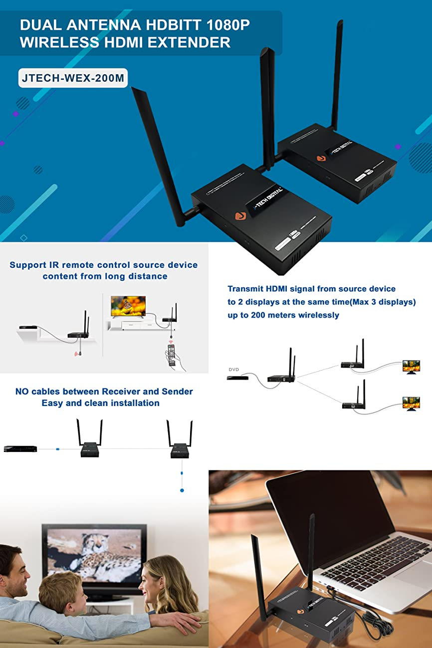 J Tech Digital Hdbitt Series 1x2 Wireless Hdmi Extender Wiring Diagram Is Focused On Providing High Quality Products That Integrate And Distribute Home Entertainment For The Residential Commercial Markets