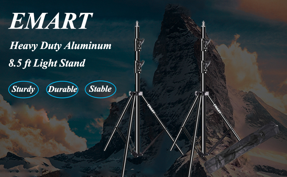 The light stand is made of aluminum alloy