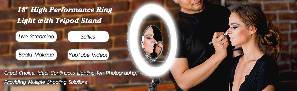 Emart Bi-color LED Photographic Ring Light Kit