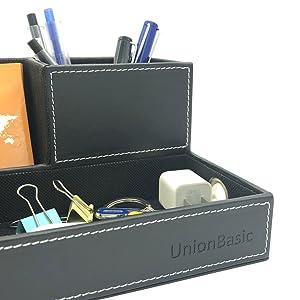 Unionbasic Desk Organizer - Multifunction Pen Mobile Holder